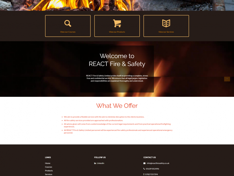 REACT fire and safety