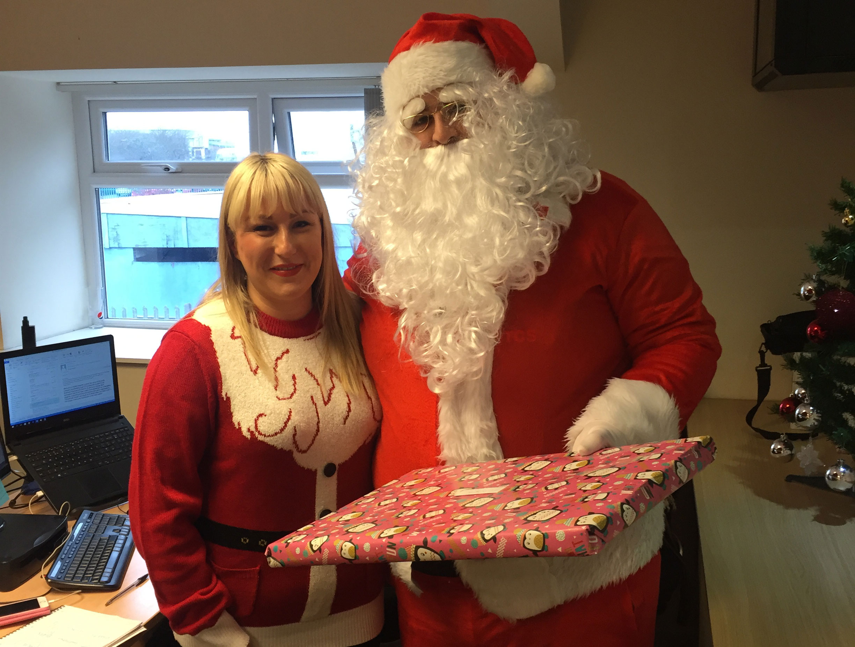(Not so secret) Santa visits the ITCS Team!