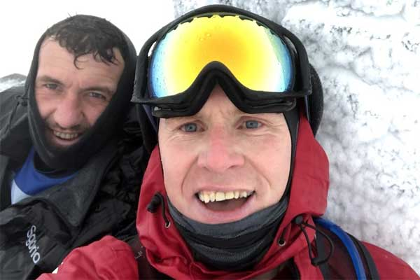 ITCS Director scales Three Welsh Peaks in Winter to Save Local School